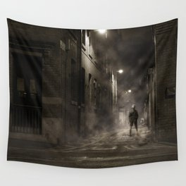Night street England Wall Tapestry