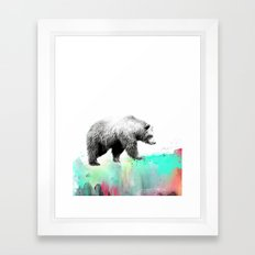 Wild No. 1 // Bear Framed Art Print