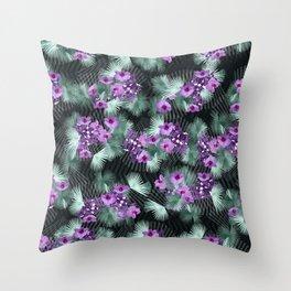 Bismarck Palm Orchids Throw Pillow