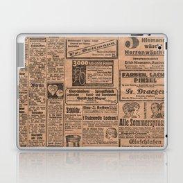 Funny German Vintage Advertising Reizende Locken Laptop & iPad Skin