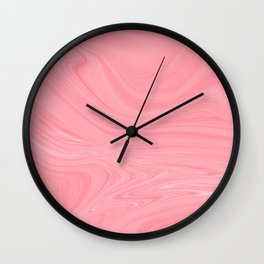 Pink Clay Wall Clock