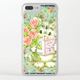 Hedgewitch cat handuct collage Clear iPhone Case