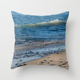 Scenic view of the Southern California beach Throw Pillow