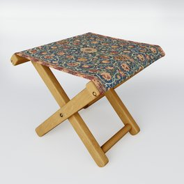 William Morris Floral Carpet Print Folding Stool