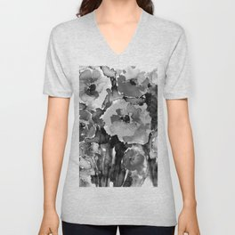 Floral Enchantment No.17D by Kathy Morton Stanion Unisex V-Neck