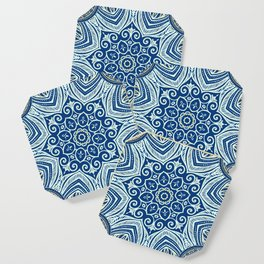 Blue and Gold  flowers pattern Coaster