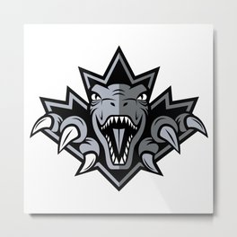 Dino Silver Leaf Metal Print