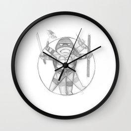 Vitruvian Turtle(s) Wall Clock