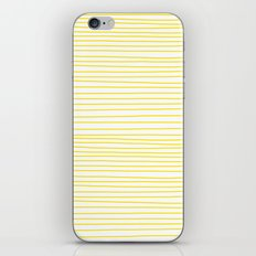 Yellow Lines dancing striped iPhone & iPod Skin