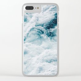 sea - midnight blue storm Clear iPhone Case