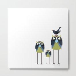 Long-Legged Owls Metal Print