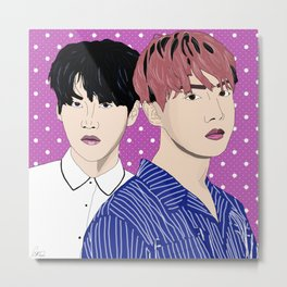 BTS J-Hope and Suga Metal Print