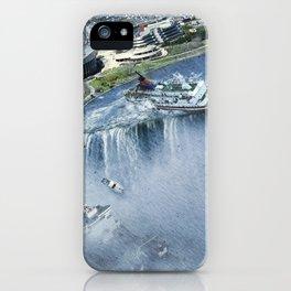 Earth Falls Away iPhone Case