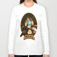 tomb raider Long Sleeve T-shirts featuring Tomb Raider by Orphen5