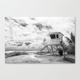 Lifeguard tower in Kauai, Hawaii Canvas Print