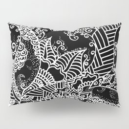 Zen Tree Rebirth Black Right Half Pillow Sham