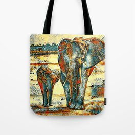AnimalArt_Elephant_20170903_by_JAMColorsSpecial Tote Bag