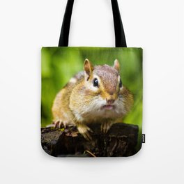 Caught With His Mouth Full Tote Bag