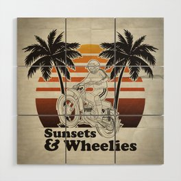 Sunsets & Wheelies Wood Wall Art