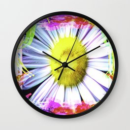 Pink And Yellow Delight Wall Clock