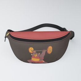 Squat Bear Gym I Love to Eat Pizza Fanny Pack