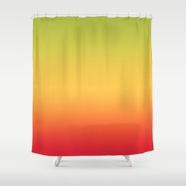 Tropical Colorful Gradient Pattern Shower Curtain