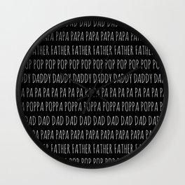So Many Ways To Say Dad Wall Clock