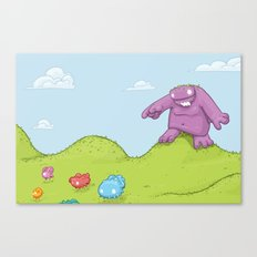 Marshmallow Hunting Canvas Print