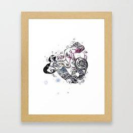Dear Diary Framed Art Print