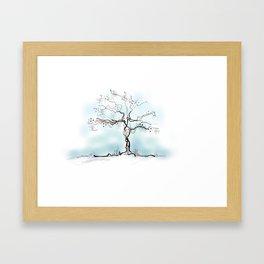 Sketch of Tree Framed Art Print