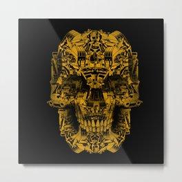 Skull Heavy Equipment Metal Print