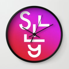 Silly face Wall Clock