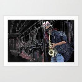 6 Train Art Print