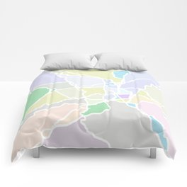 Pathways abstract art Comforters