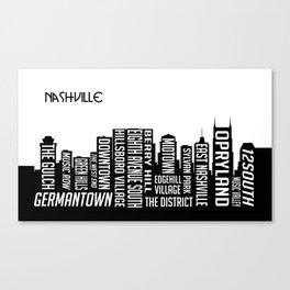 Skyline Nashville Canvas Print