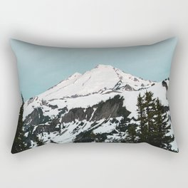 Turquoise Sky Mt. Baker Rectangular Pillow