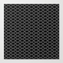 Small Black White and Gray Octagonal interlocking shapes Canvas Print