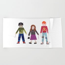 Harry, Hermione, and Ron Beach Towel