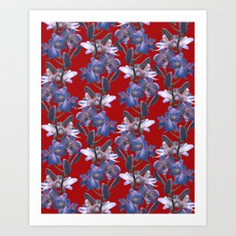 Orchids in Wine Art Print