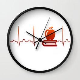 TEACHER HEARTBEAT Wall Clock