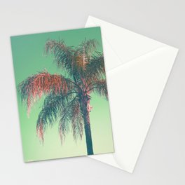 Red palm tree Stationery Cards