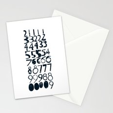 Numbers b/v Stationery Cards