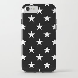 Stars (White/Black) iPhone Case