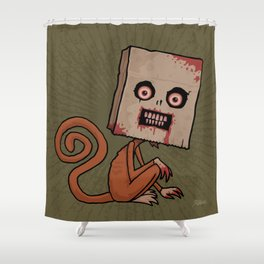 Psycho Sack Monkey Shower Curtain