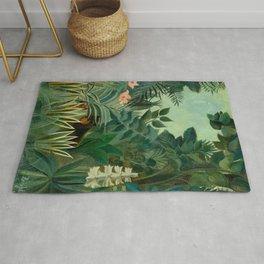 "Henri Rousseau ""The Equatorial Jungle"" Rug"
