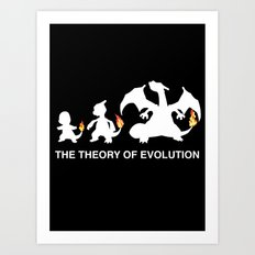 The Theory of Evolution  Art Print