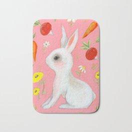 Bunny and treats Bath Mat