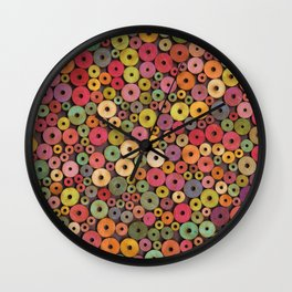 Wooden Circles #1 Wall Clock