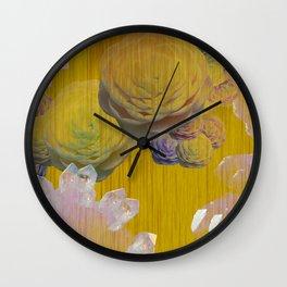 Crystal Camellia  Wall Clock