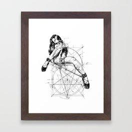 Samael Lilith and the Golden ratio Framed Art Print